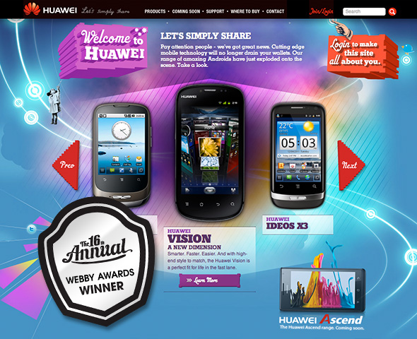 Huawei Mobile Website